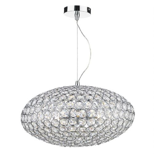 Kyrie 3 Light Pendant Polished Chrome Clear (Class 2 Double Insulated) BXKYR0350-17